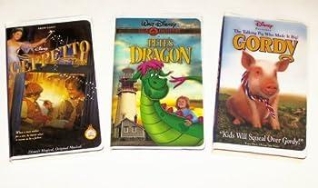 Disney Comedy Collection #3  Pete s Dragon  Geppetto  Gordy  3pk