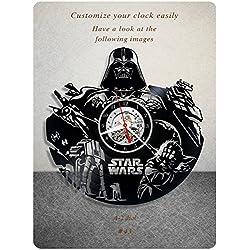 Star Wars vinyl clock, vinyl wall clock, vinyl record clock yoda leia organa luke skywalker jedi grand master home decor birthday gift 043 - (a2)