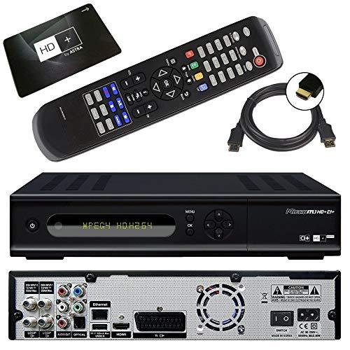 netshop 25 Micro M1 HD+ CI+ digitaler HD Twin Satelliten-Receiver (12 Moante HD+, Twin-Tuner, 1x CI+, HDMI, Ethernet, USB 2.0, PVR-Ready, Smart TV) schwarz