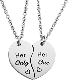 00db33856a Meibai Gay Lesbian Couples Jewelry Set His One His Only Keychain Her One  Her Only Necklace