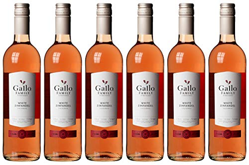 Gallo Family Vineyards White Zinfandel Ernest und Julio  Lieblich (6 x 0.75 l)