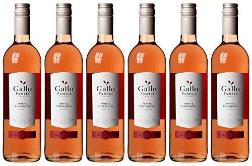 Gallo Family Vineyards White Zinfandel Ernest und Julio  Lieblich (6 x 0.75 l)
