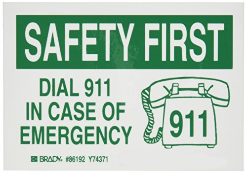 Brady 86192 Safety Label