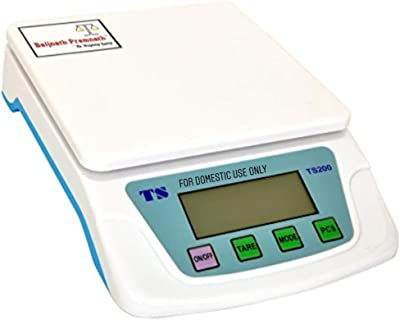 Baijnath Premnath Digital 10kg x 1g Small Size Premium Scale Balance Multi-Purpose Weight Measuring Machine with Adapter Weighing Scale for Laboratories Research Purpose