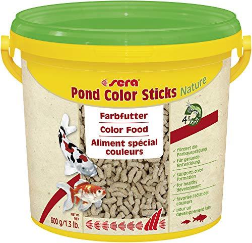 sera Pond Color Sticks es el alimento colorante Que se compone de granulado cuidadosamente elaborado, para Peces de Estanque