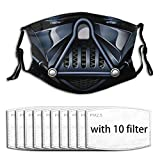 753 Darth-Vader Washable and Reusable Facial Warm Windproof Cotton Outdoor with 10 Filter for Kids Women Men
