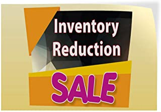 Decal Sticker Multiple Sizes Inventory Reduction Sale Business Style T Business Inventory Reduction Sale Outdoor Store Sign Orange - 64inx42in,