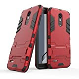 HDRUN LG K9 / LG K8 2018 Case, Full-body Rugged PC Bumper