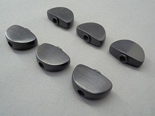 GOTOH(ゴトー)用・グローバー102タイプ エボニーノブ (ペグボタン) 標準サイズ・6個セット