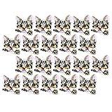 HERCHR 20 Parches para Planchar para Ropa, Parches Bordados con Cabeza de Gato para decoración de Bricolaje