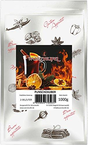 Punschzauber fruchtiger Punsch & Glühweingewürz. Mit natürlichen, ätherischen Gewürzölen. Speziell für Kinder. Beutel 1000g. (1KG)
