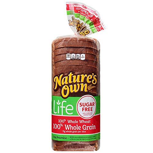 Nature's Own Sugar Free 100% Whole Wheat 100% Whole Grain Bread, 16 oz