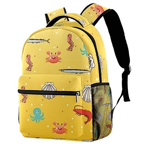 Mochila de cangrejo Shell mochila escolar mochila de viaje casual para mujeres adolescentes niñas niños