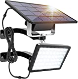PACEARTH Dusk to Dawn Solar Wall Light, 1000 Lumen Solar Power Outdoor Light with 5500mAh Large Battery and 3M PVC Cord, IP65 Waterproof Outdoor Solar Wall Lamp for Garden Patio Garage, Bright White