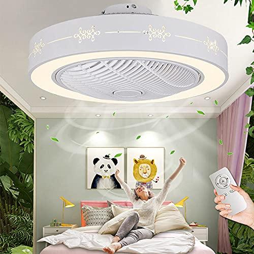 Ventilador De Techo Con Iluminación Y Control Remoto Moderna Lámpara De Techo Con Ventilador Silenciosamente Regulable Luz De Ventilador Para Dormitorio Habitación De Niños Sala De Estar Comedor