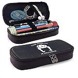 La caja de lápices QiangQ con bolsa de cuero con cremallera y sudor es la equidad más valiosa que existe. & mdash; Mark Cuban adecuado para escuelas y oficinas 3.54x7.87x1.57 pulgadas