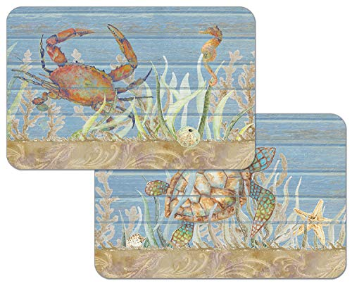 CounterArt Under The Sea Reversible Rectangular Easy Care Placemats Set of 4 Made in The USA
