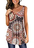 Women's Classic Tanks Sexy Sleeveless Evening Party Tops Blouses Brown XX-Large