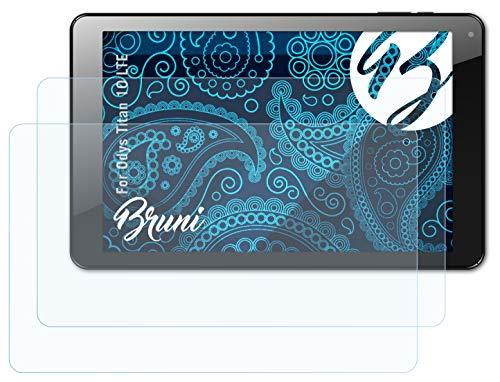 Bruni Schutzfolie kompatibel mit Odys Titan 10 LTE Folie, glasklare Bildschirmschutzfolie (2X)
