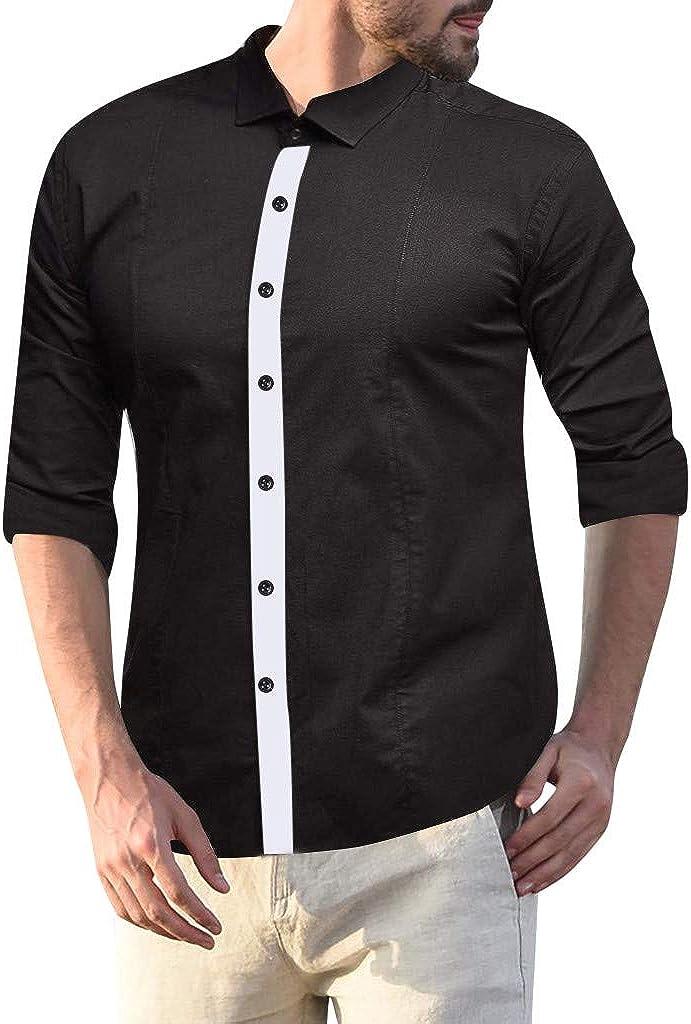 Men's Button Down Shirt Long Sleeve Slim Fit Casual Dress Shirt Tops