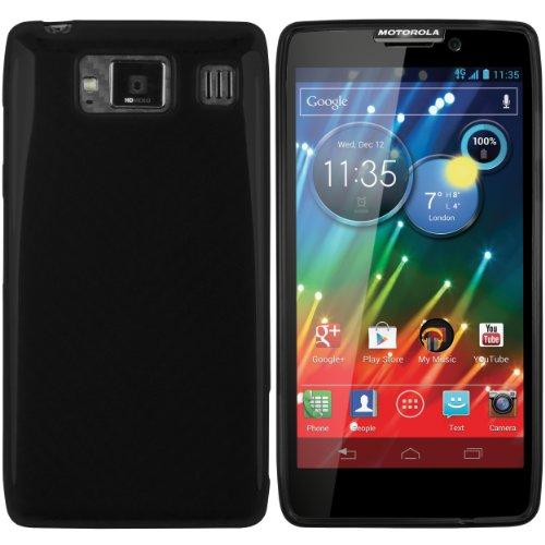 mumbi Hülle kompatibel mit Motorola RAZR HD Handy Case Handyhülle, schwarz