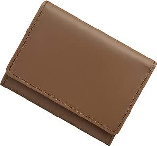 極小財布 InRed別注モデル「カウハイドグレージュ」 BECKER 日本製 ミニ財布/三つ折り財布