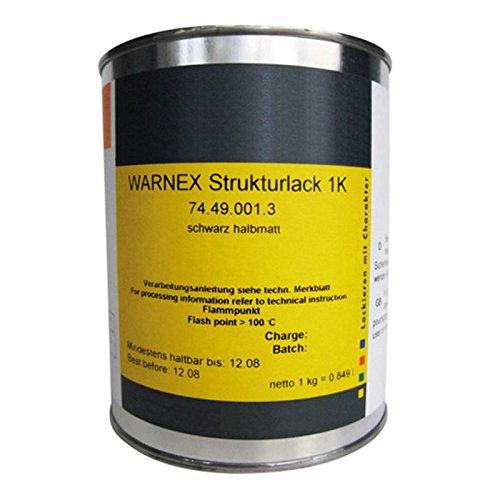 Warnex Strukturlack 1kg schwarz