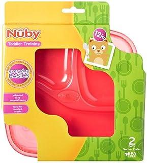 NUBY Muncheez empilable aspiration Bols avec Couvercles Bols