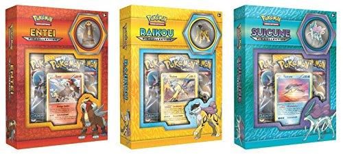 CAGO Pokémon Pin Box - Entei, Raikou, Suicun - Deutsch (3er Set)