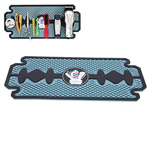 JTYX Barber Work Station Mat Clippers Mats Flexible PVC Heavy Duty Antiskid Bar Service Mat Cushion, Resistant Resistant Pad Tools for Styling Hair Dryers Hair Trimmers