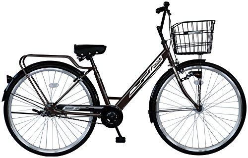 CHACLE(チャクル) 軽くて パンクしない自転車 シティサイクルV type-S 変速無し 27インチ [BAA適合車/シングルスピード/8倍明るいLEDオートライト/光るパーツ] CHQ-CC270V-HDR-BAA ブラウン