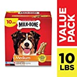 Milk-Bone Original Dog Treats, Cleans Teeth, Freshens Breath, 10 Lb. Box, Medium