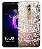 Sunrive Für Leagoo M9 Pro Hülle Silikon, Transparent Handyhülle Schutzhülle Etui Hülle für Leagoo M9 Pro(TPU Blume rosa)+Gratis Universal Eingabestift