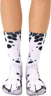 Dalmatian Paws Crew Socks