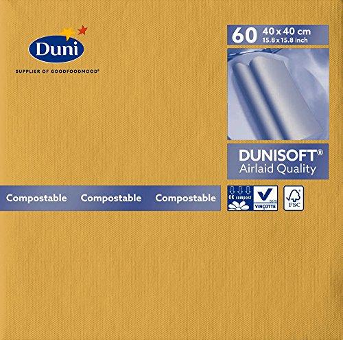 Duni 174026 Dunisoft grote lunchservetten, 40 cm x 40 cm, honing (720 stuks)
