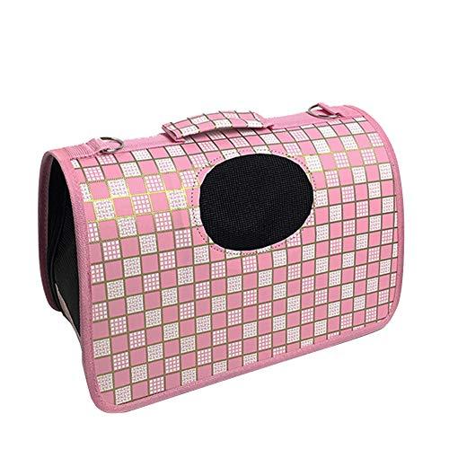 TOHHOT etbotu Pet Travel Carrier handtas, PVC-materiaal, hond kat zachte opvouwbare portemonnee, luipaard, M: 42 * 26 * 24cm