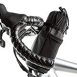 GZWY Bolsa aislante para manillar de bicicleta, soporte para botella de agua para bicicleta, con cordón de extensión, marco de bicicleta, bolsa impermeable para cochecito y bicicletas