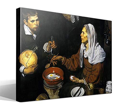 Cuadro Canvas Vieja friendo Huevos de Diego Rodriguez de Silva y Velazquez