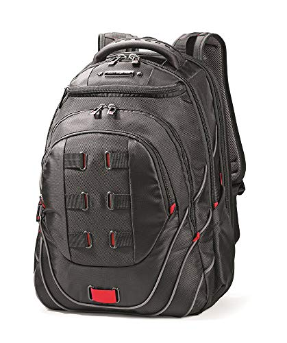 "Samsonite Luggage Tectonic 17"" Pft Backpack Black/red"
