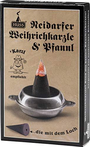 Huss - Feine Neudorfer Räucherkerzen mit Pfannenunterteil - von Karzl empfohlen (24 Stück)