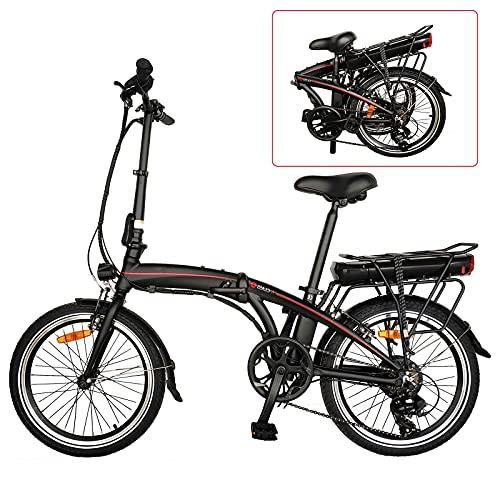 Bicicletta pieghevole Bici Pieghevole City bike elettrica pneumatici da 20 pollici Bicicletta pieghevole con regolatore a 5 vel