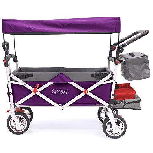 Creative Outdoor Push Pull Collapsible Folding Wagon Stroller Cart for Kids  ...