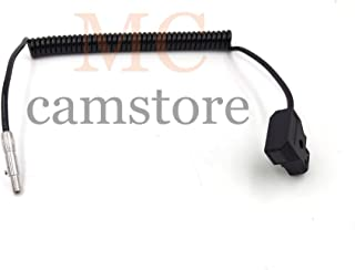 MCCAMSTORE Camcorder Monitor Odyssey 7/7Q/7Q+ Power Cable, 3pin Plug Female to D-tap Power Coiled Cable for Odyssey 7/7Q/ 7Q+ 32inch