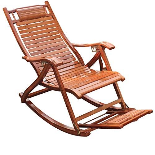 Chaise berçante Fauteuil à bascule pour jardin ou terrasse en bois massif naturel Dossier incurvé confortable Idéal pour une utilisation en extérieur ou en intérieur (Couleur : B)