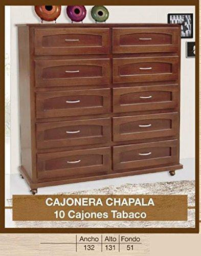 HOME DESIGN Cajonera Chapala 10 cajones Tabaco