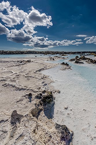 Panoramic Images – Silica deposits in Water by The Svartsengi Geothermal Power Plant Near The Blue Lagoon Bathing Pools Iceland Photo Print (22,86 x 68,58 cm)