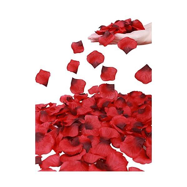 Simplicity 1000 Pcs Separated Non-Woven Rose Petals Wedding,Party Decoration