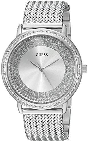 GUESS Reloj casual para mujer de acero inoxidable con cristal