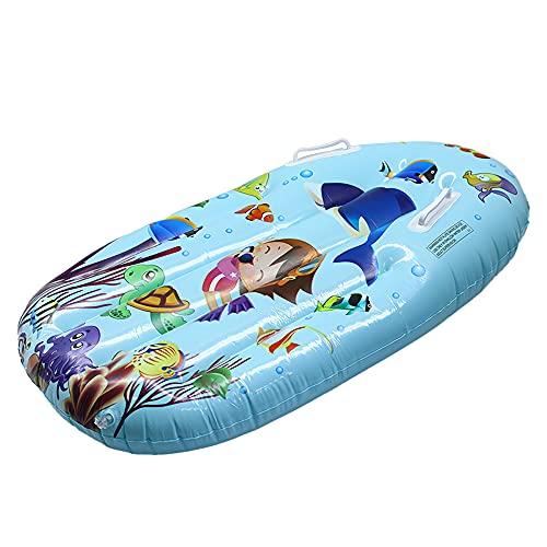 GBLDLY Barco inflable para niños, tabla de surf para niños, piscina de bodyboard, flotadores de playa de PVC con asas ligeras y suaves tablas de cuerpo para natación, deportes, diversión acuática