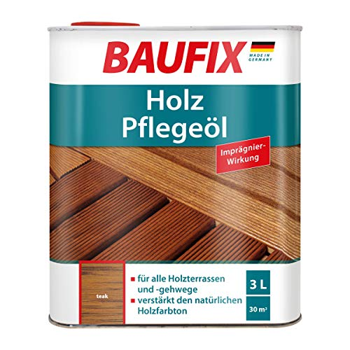 BAUFIX Holz-Pflegeöl, teak, 3L